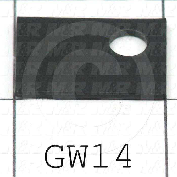 Fabricated Parts, Glass Retainer, 1.00 in. Length, 0.75 in. Width, 16 GA Thickness, Black Powder Coat Finish