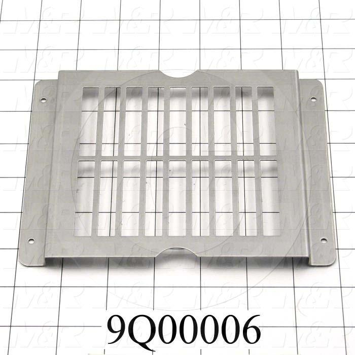 Fabricated Parts, Grill For Tacana Flashes, 7.40 in. Length, 5.44 in. Width, 0.36 in. Height