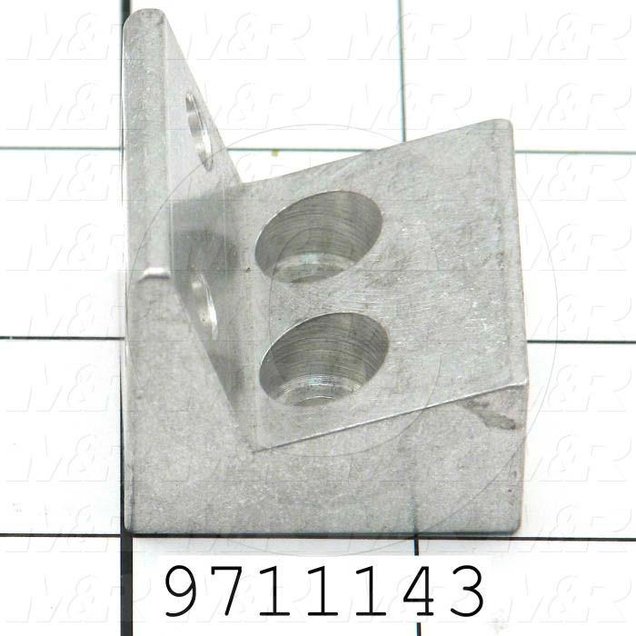 Fabricated Parts, Gripper Adj. Block For Towels, 1.38 in. Length, 1.38 in. Width, 1.25 in. Height