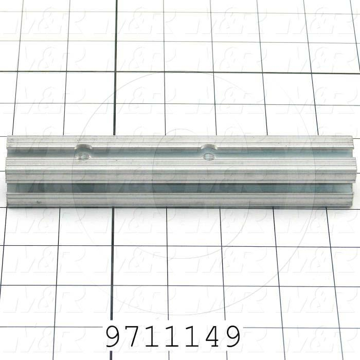Fabricated Parts, Gripper Adjustment Rail, 6.50 in. Length, 1.00 in. Width, 1.00 in. Height