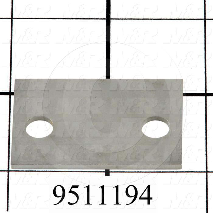 Fabricated Parts, Gripper Arm Shim, 1.75 in. Length, 1.14 in. Width, 14 GA Thickness