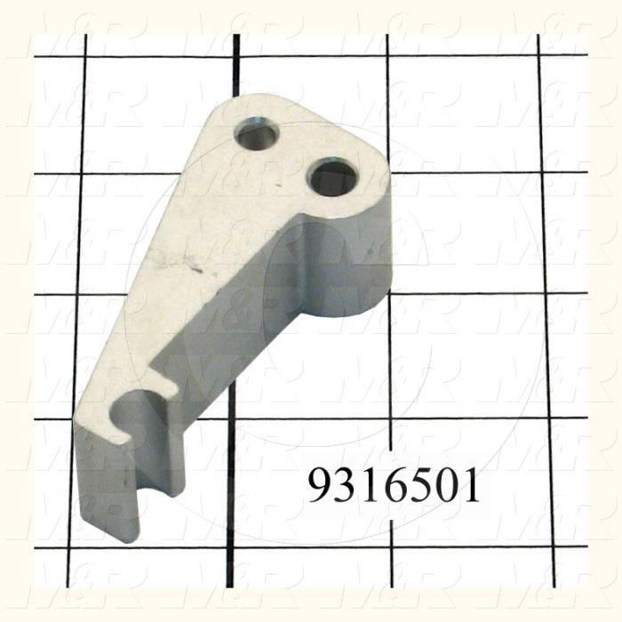 Fabricated Parts, Gripper Finger, 3.00 in. Length, 1.00 in. Width, 1.38 in. Height