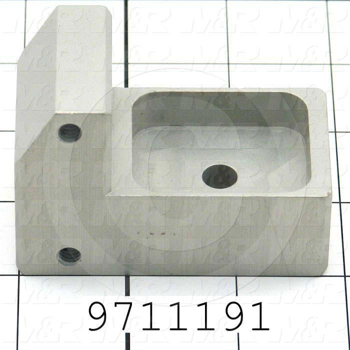 Fabricated Parts, Gripper Lift Cyl MTG block, 2.88 in. Length, 2.00 in. Width, 1.50 in. Height, Clear Anodized Finish