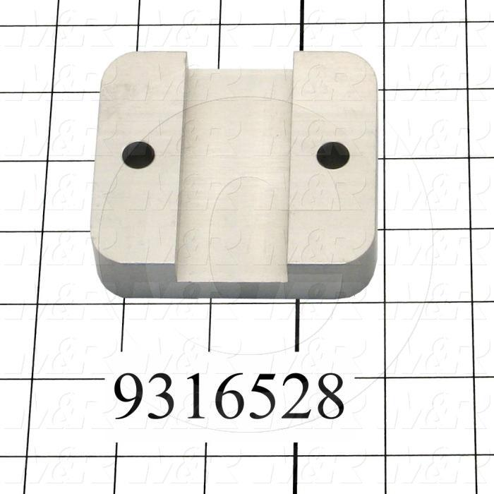 "Fabricated Parts, Gripper Upper Clamp 3.25"", 3.25 in. Length, 3.00 in. Width, 0.75 in. Thickness"