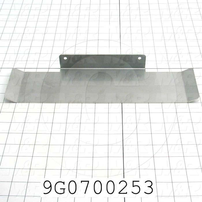 "Fabricated Parts, Guide 4"", 14.72 in. Length, 4.00 in. Width, 3.00 in. Height, 16 GA Thickness, Tumble Finish"