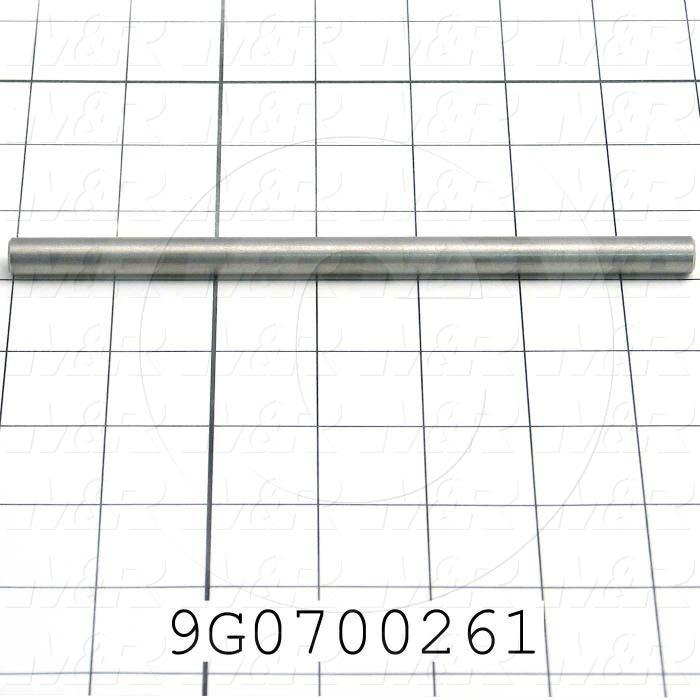 Fabricated Parts, Guide, 6.75 in. Length, 0.375 in. Diameter, 10-24 Thread Size
