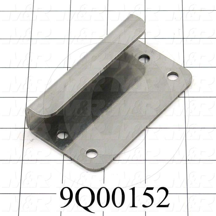 Fabricated Parts, Handle, 4.00 in. Length, 2.25 in. Width, 11 GA Thickness