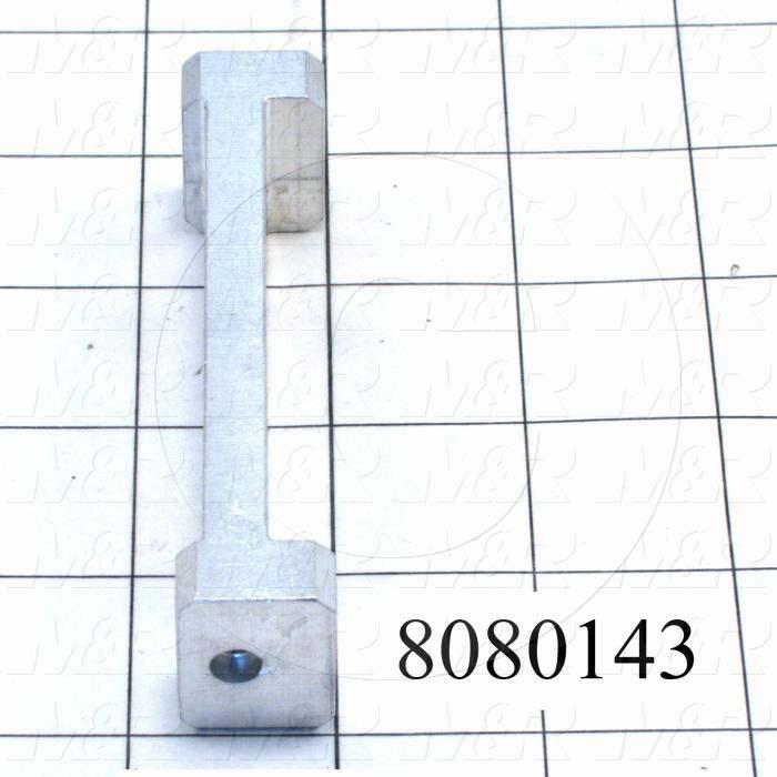 Fabricated Parts, Hanger Bracket, 3.75 in. Length, 1.00 in. Width, 0.75 in. Height