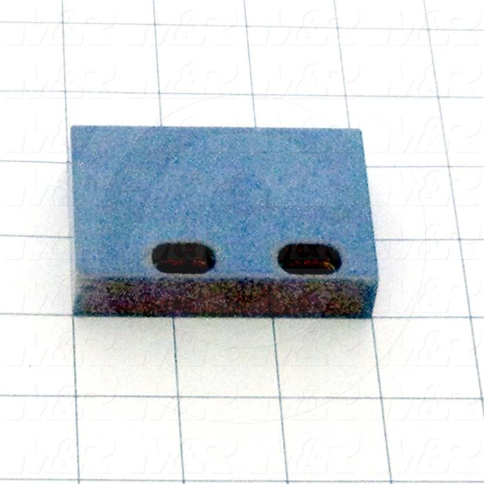 Fabricated Parts, Head Bumper, 3.00 in. Length, 2.00 in. Width, 0.63 in. Height, Left Side