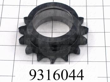 Fabricated Parts, Head Lift Crank Sprocket, 1.25 in. Length, 4.00 in. Diameter