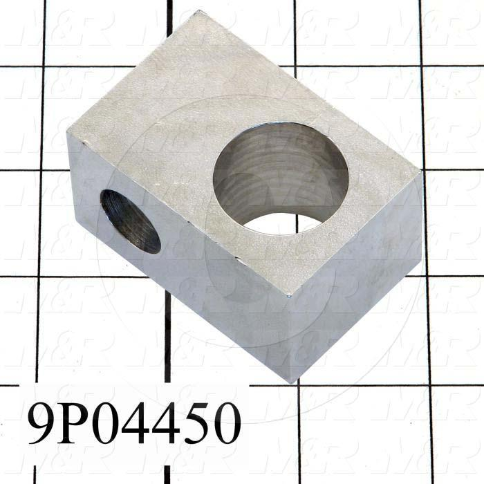 Fabricated Parts, Head Pivot Block, 2.25 in. Length, 1.50 in. Width, 1.25 in. Height