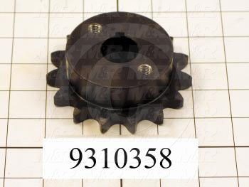 Fabricated Parts, Head Sprocket, 0.88 in. Length, 3.29 in. Diameter