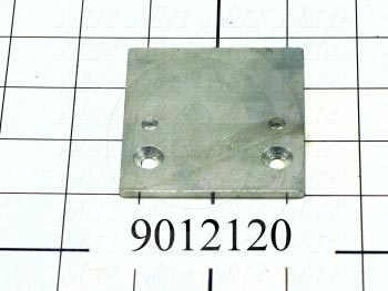 Fabricated Parts, Head Stop Flat, 2.75 in. Length, 2.50 in. Width, 0.13 in. Thickness