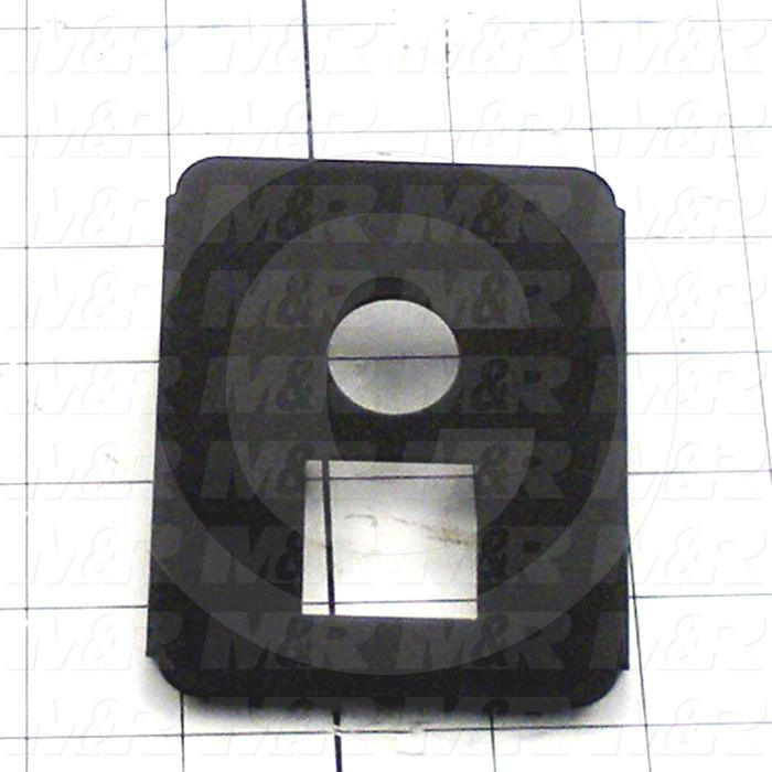 Fabricated Parts, Head Tube Front Cover, 4.10 in. Length, 4.00 in. Width, 0.56 in. Height