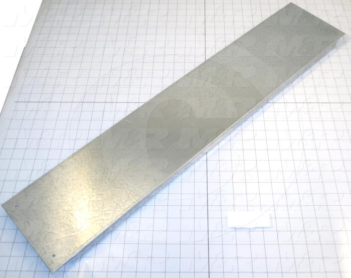 Fabricated Parts, Heat Shield 36, 34.00 in. Length, 7.00 in. Width, 0.75 in. Height, 14 GA Thickness