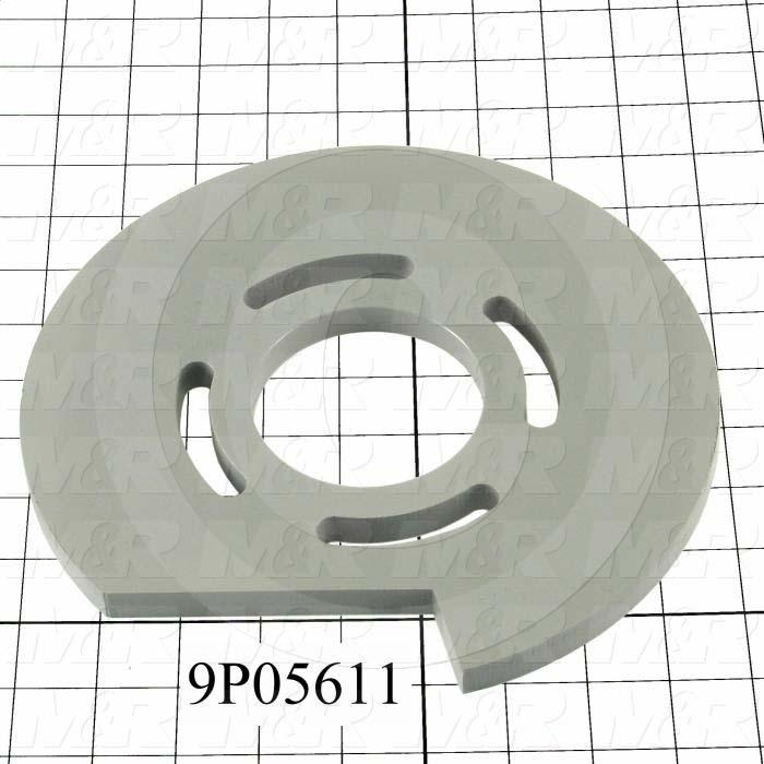 Fabricated Parts, High Lift Stop Disk, 9.00 in. Diameter, 0.50 in. Thickness