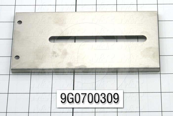 Fabricated Parts, Hinge, Lower Half, 6.88 in. Length, 3.19 in. Width, 0.31 in. Height, 16 GA Thickness