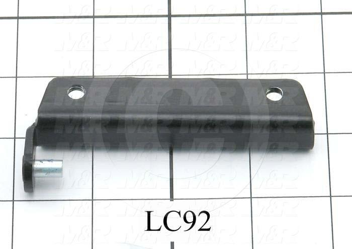 Fabricated Parts, Hinge, Male Half, 3.53 in. Length, 0.50 in. Width, 0.75 in. Height, Black Finish
