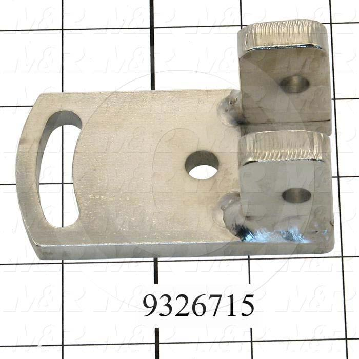 Fabricated Parts, Holder Bracket Weldment, 1.50 in. Length, 1.50 in. Width, 3.00 in. Height