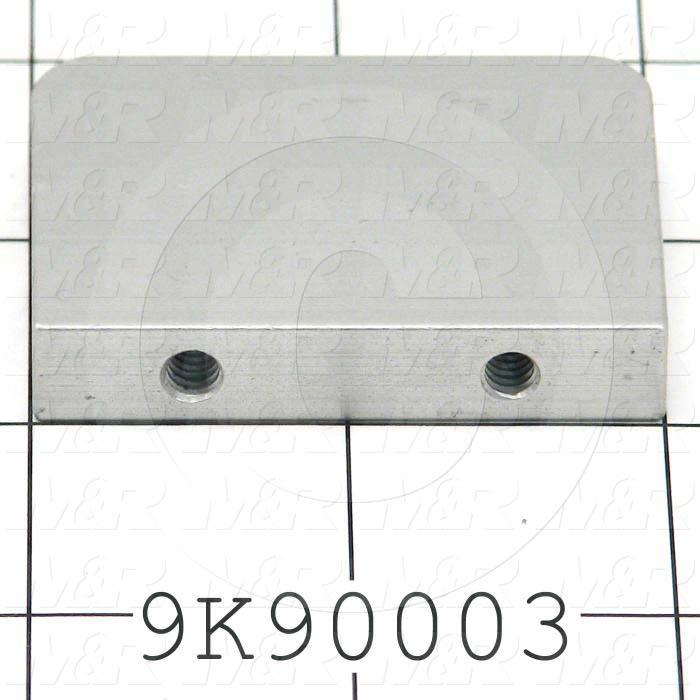 Fabricated Parts, Hook End Plate, 2.00 in. Length, 0.38 in. Width, 1.50 in. Height