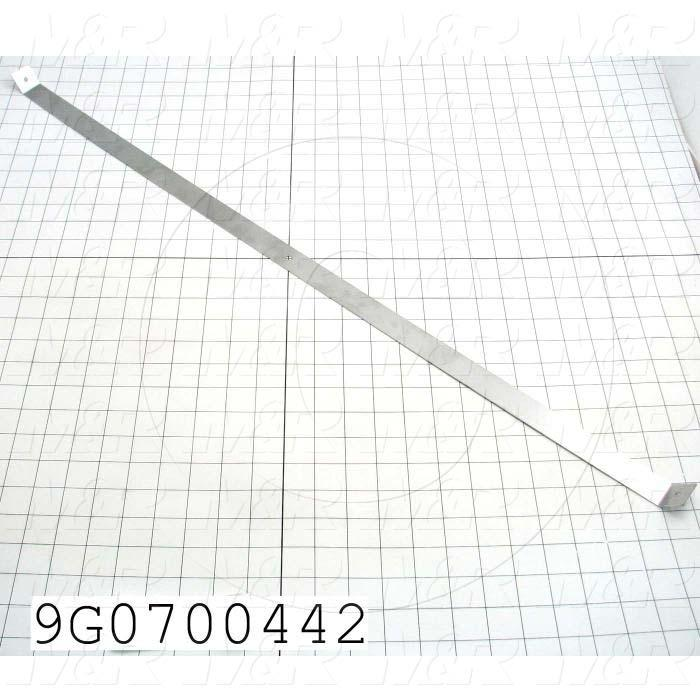 Fabricated Parts, Horizontal Loop, 33.94 in. Length, 1.00 in. Width, 18 GA Thickness