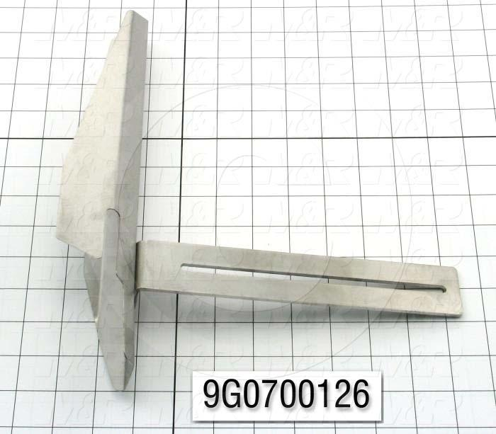 Fabricated Parts, Horn Left  Weldment, 12.02 in. Length, 10.63 in. Width, 2.45 in. Height