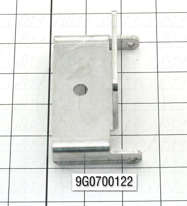 Fabricated Parts, Horn Pivot Bracket, 3.75 in. Length, 2.19 in. Width, 0.75 in. Height, 10 GA Thickness