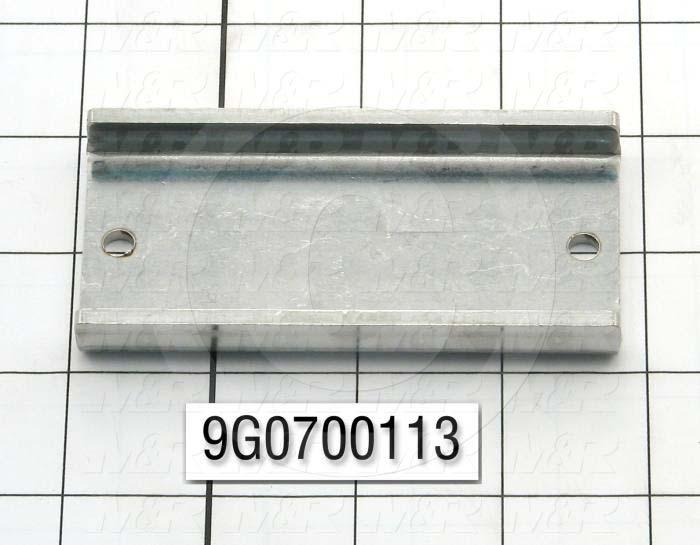 Fabricated Parts, Horn Retainer, 3.75 in. Length, 1.83 in. Width, 0.50 in. Height, 10 GA Thickness