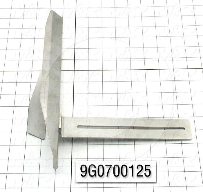 Fabricated Parts, Horn Right Weldment, 12.00 in. Length, 10.62 in. Width, 5.50 in. Height