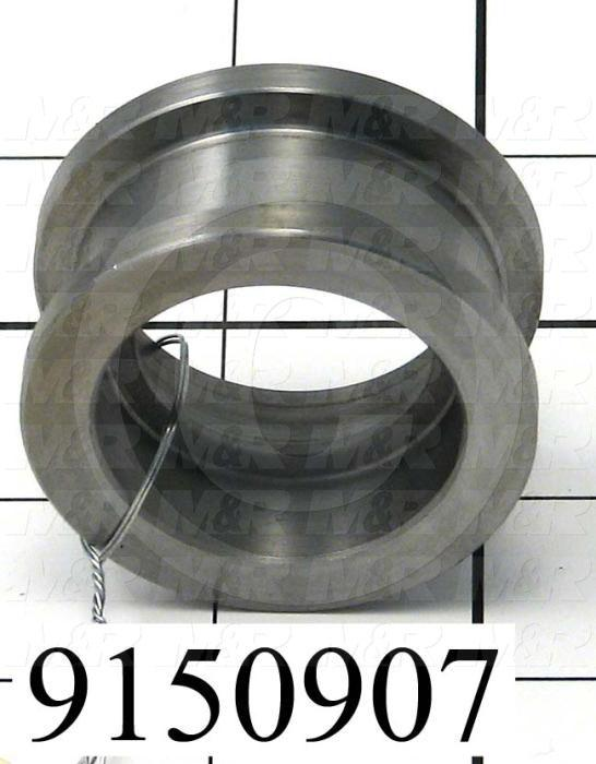 Fabricated Parts, Idler Roller, 0.97 in. Length, 1.94 in. Diameter