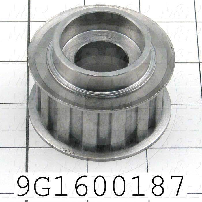 Fabricated Parts, Idler Roller Pulley, 1.63 in. Height, 2.44 in. Diameter