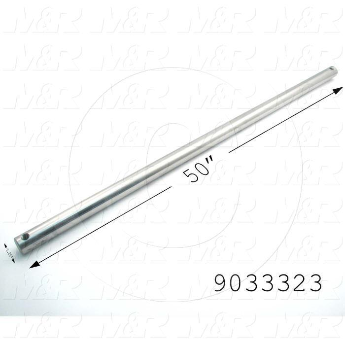Fabricated Parts, Idler Shaft, 49.50 in. Length, 1.25 in. Diameter