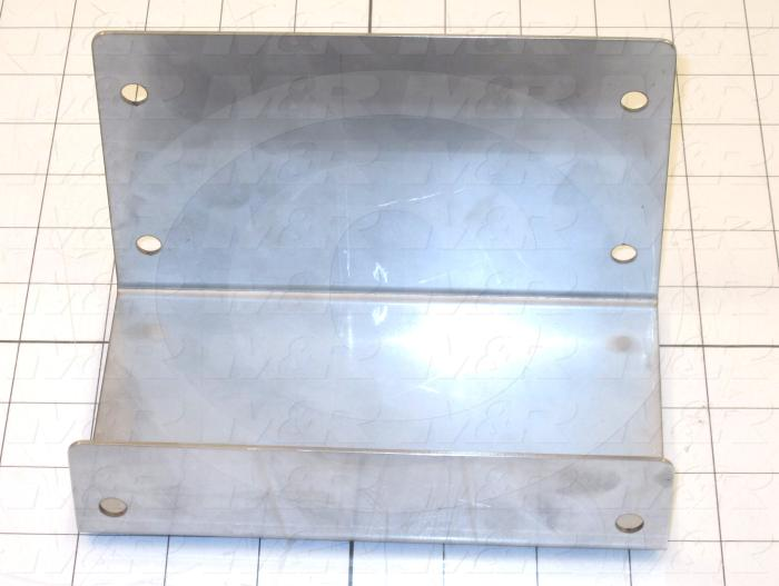 Fabricated Parts, Igus Connection Bracket, 6.38 in. Length, 3.94 in. Width, 3.94 in. Height, 16 GA Thickness, As Material Finish