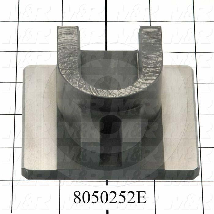 Fabricated Parts, Index Clevis, 3.19 in. Length, 3.75 in. Width, 1.56 in. Height