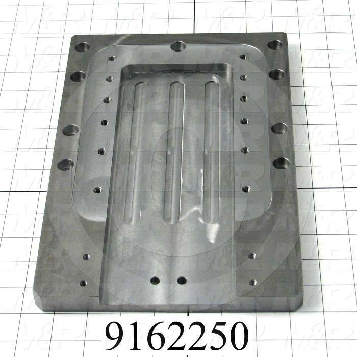 Fabricated Parts, Index Mount Plate, 12.13 in. Length, 8.00 in. Width, 0.74 in. Thickness