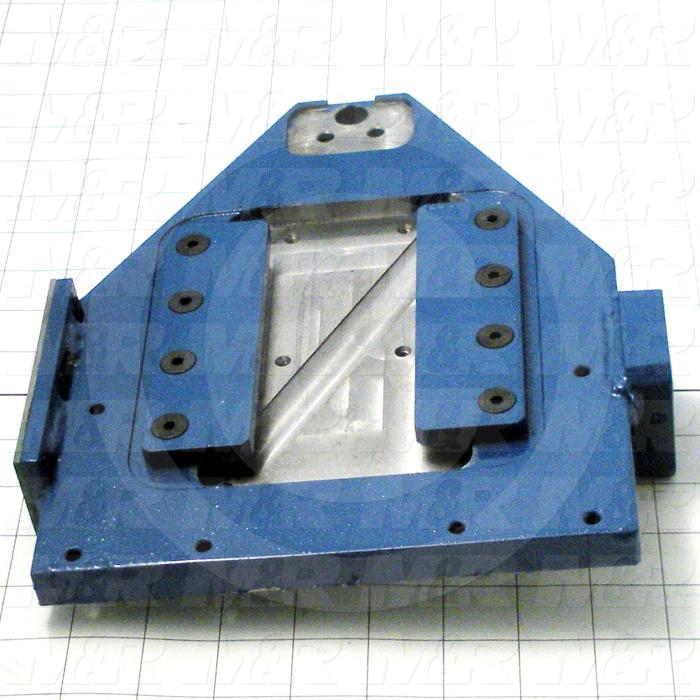 Fabricated Parts, Index Mount Plate Assembly, 10.38 in. Length, 8.00 in. Width, 2.00 in. Height