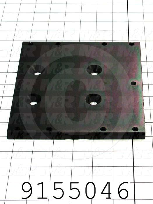 Fabricated Parts, Index Mounting Plate Spacer, 7.00 in. Length, 7.75 in. Width, 0.38 in. Height