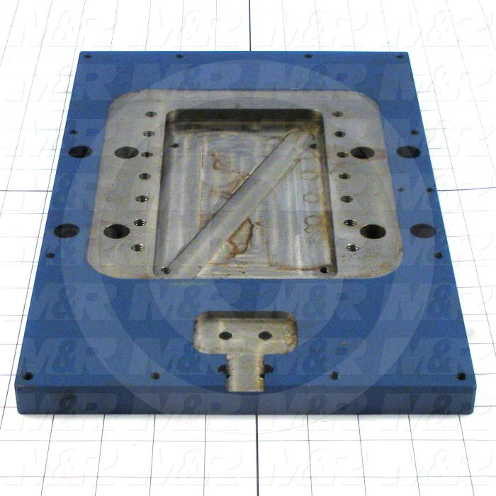 Fabricated Parts, Indexer Mounting Plate, 14.25 in. Length, 9.00 in. Width, 0.75 in. Thickness
