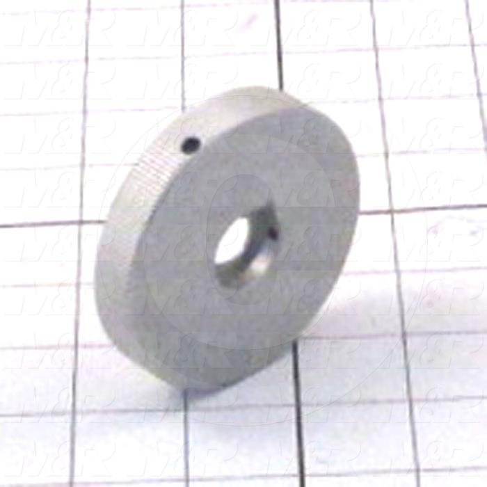 Fabricated Parts, Indicator Knob, 2.75 in. Diameter, 0.50 in. Thickness