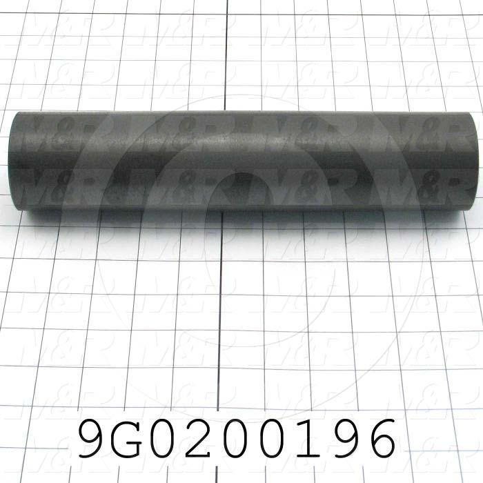 "Fabricated Parts, Infeed Belt Idler Roller 11""Ac, 11.00 in. Length, 2.50 in. Diameter, Black Oxided Finish"