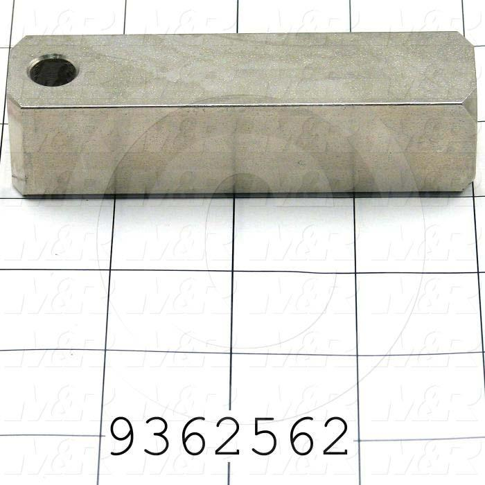 Fabricated Parts, Inside Bar, 3.88 in. Length, 1.00 in. Width, 1.00 in. Height