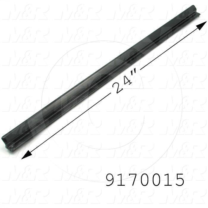 Fabricated Parts, Inside Extrusion, 24.00 in. Length, 0.50 in. Height