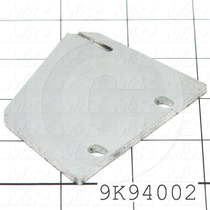 Fabricated Parts, Inside Plate, 2.44 in. Length, 2.93 in. Width, 0.13 in. Thickness, Right Side