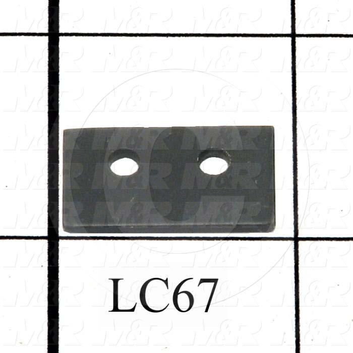 Fabricated Parts, Keeper Spacer, 0.88 in. Length, 0.50 in. Width, 16 GA Thickness, Black Finish