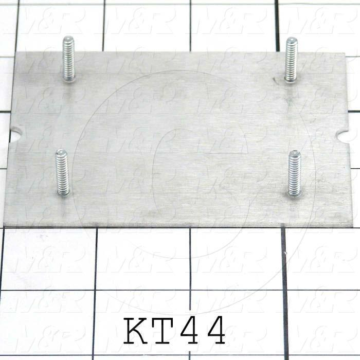 Fabricated Parts, Keypad Base, 3.72 in. Length, 3.00 in. Width, 0.063 in. Thickness