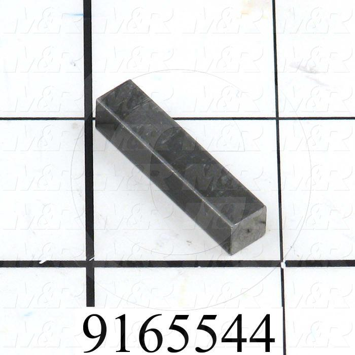 Fabricated Parts, Keystock, 1.13 in. Length, 0.24 in. Width, 0.24 in. Height