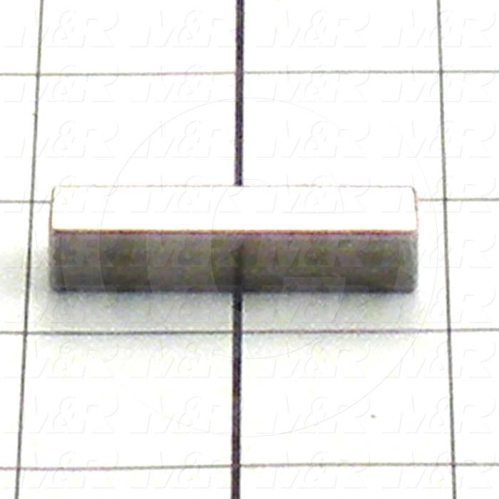 Fabricated Parts, Keystock, 1.75 in. Length, 0.38 in. Width, 0.38 in. Height