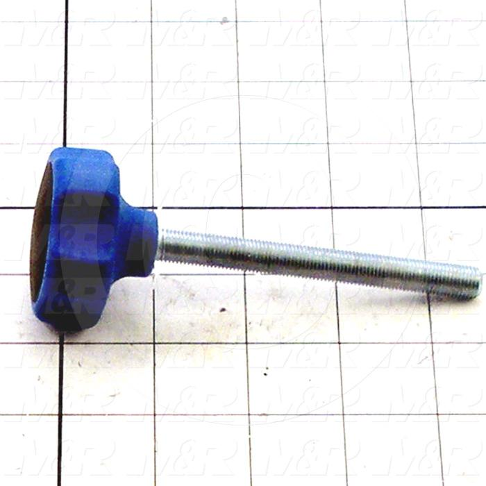 Fabricated Parts, Knob, 1.00 in. Height, 2.00 in. Diameter, 3/8-24 Thread Size
