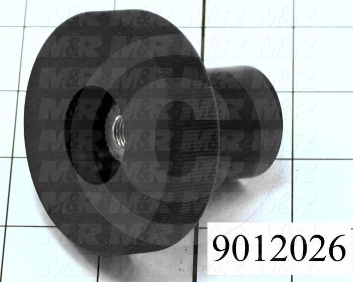 Fabricated Parts, Knob, 2.00 in. Length, 2.50 in. Diameter