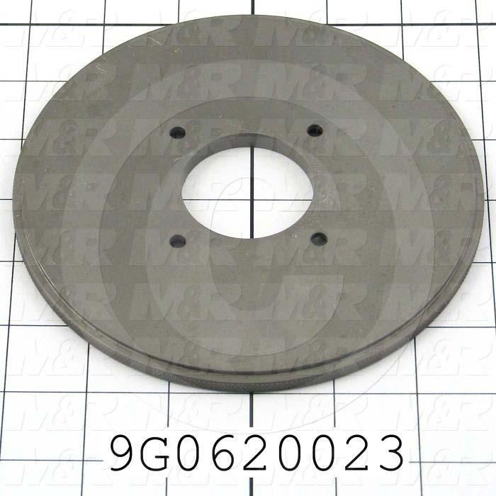 Fabricated Parts, Knurled Sealing Disk, 0.28 in. Width, 6.00 in. Diameter, Nickolon Plated Finish